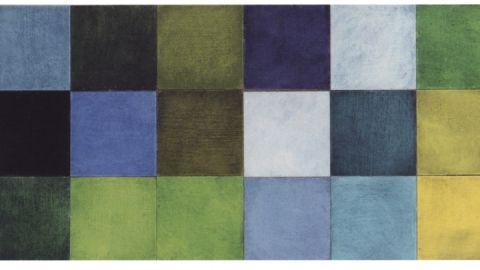 Gesine Storck, Farbspiel, Öl auf Pappe, 2008