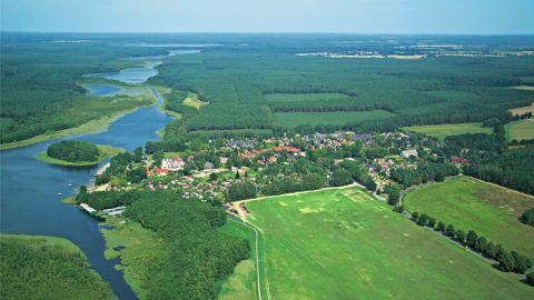 Luftaufnahme vom Ferienpark Mirow